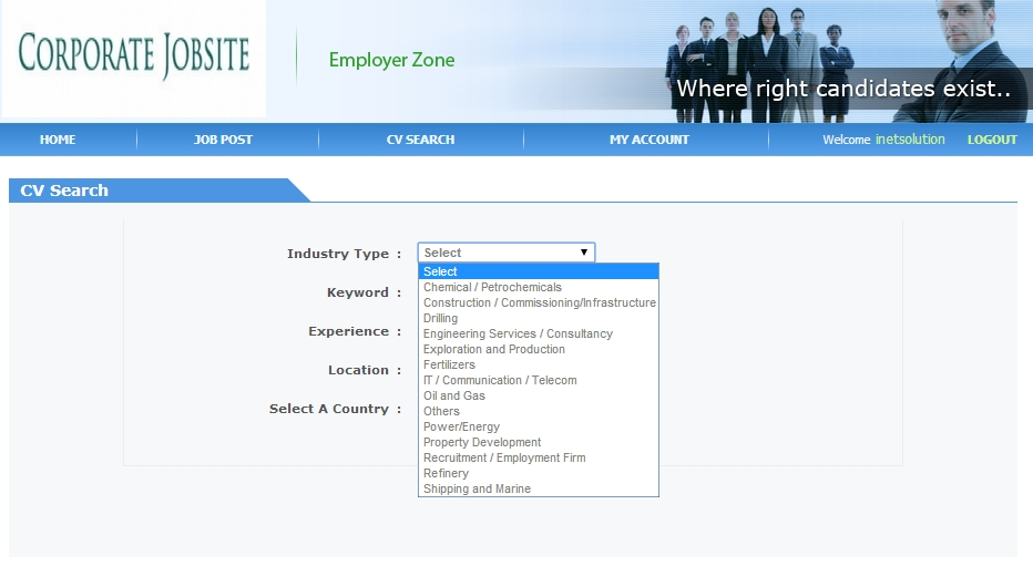 employmentcrossing search