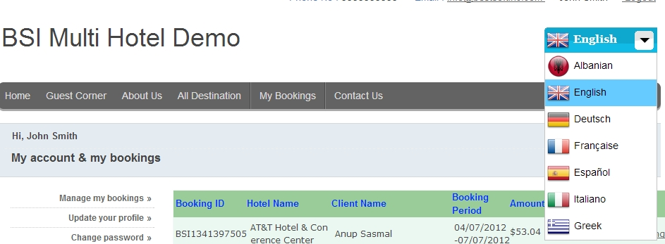 how to delete a booking in a booking system php