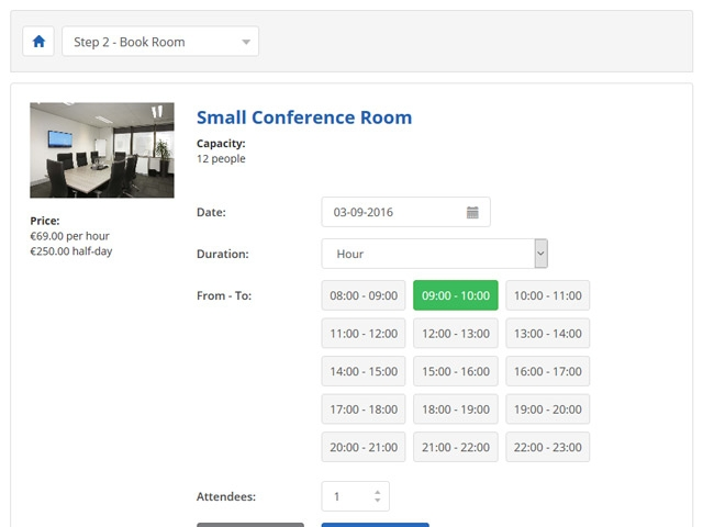 Meeting Room Booking System Using Php