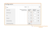 Minimum Order Amount For Customer Group Extension For Magento 2 Feature