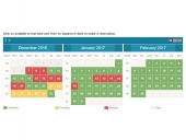 Rental Property Booking Calendar by PHPJabbers Feature