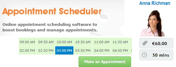 Appointment Scheduler by PHP Jabbers