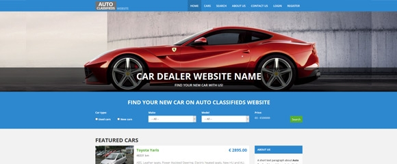 A top-notch car dealer website