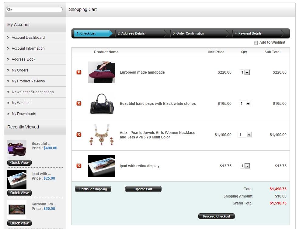 AJ Shopping Cart | Shopping cart Software | Store Software