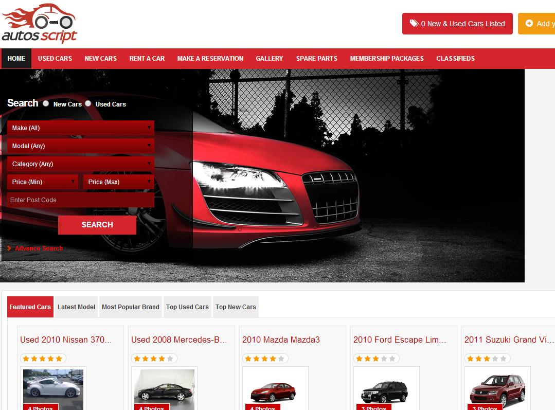 Auto Classified Ads | Autos Script | Car dealer PHP script
