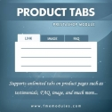 FMM's Product Tabs Addon for PrestaShop Stores, Content Management