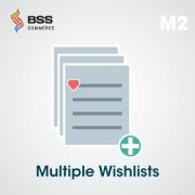 Multiple Wishlists for Magento 2, Shopping Carts Software
