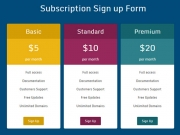 Pricing Plans And Subscription - free script, Business & Finance Software