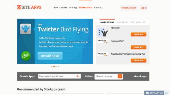 SiteApps Twitter Bird Flying App: Add a flying bird to your website