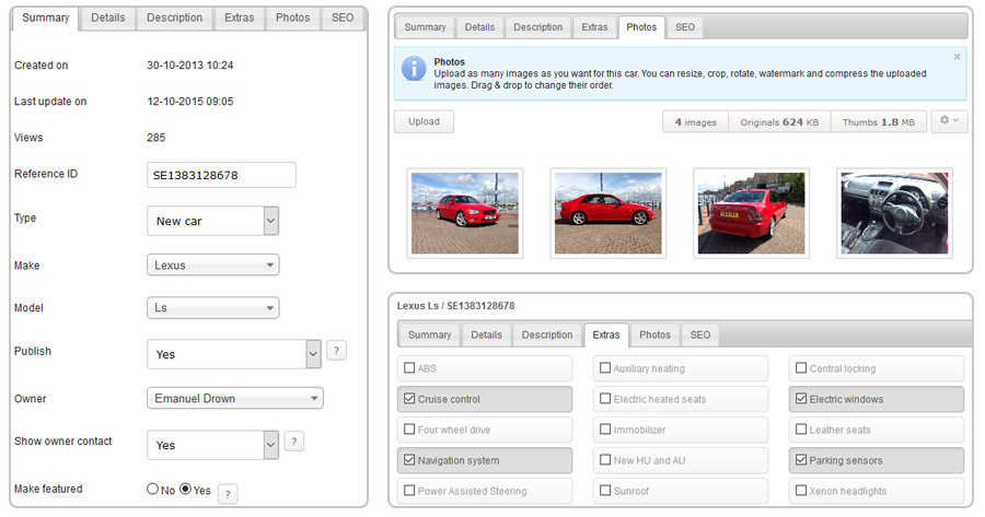 Auto Classifieds Software